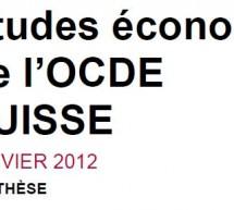 Economie suisse: les recommandations de l'OCDE