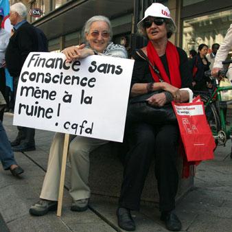 Finance sans conscience mène à la ruine!