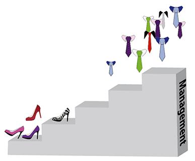 Escalier Parité homme femme
