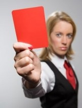 red card woman