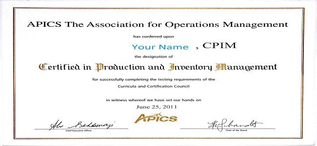 Should You Get CPIM or CSCP Certification? - APICS ...
