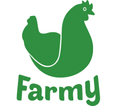 Green Farmy Logo white background Home delivery services