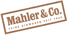 Brown and white Mahler & Co. Logo and Link to page. Home delivery services