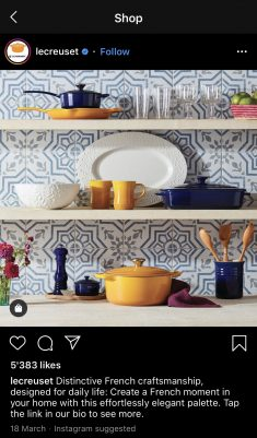 le creuset post content from explore page