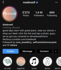 madewell screenshot brand biography