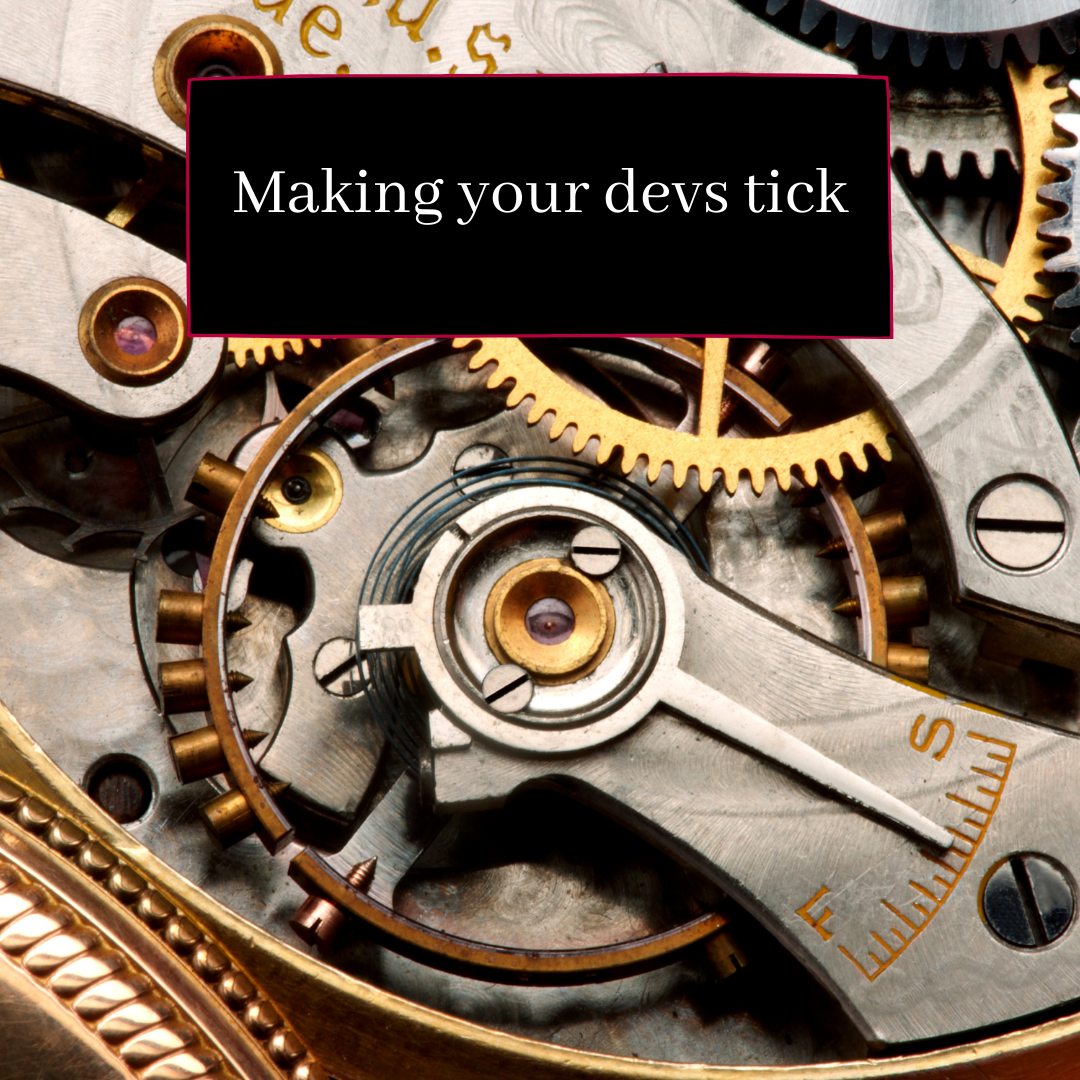 getting your devs ticking
