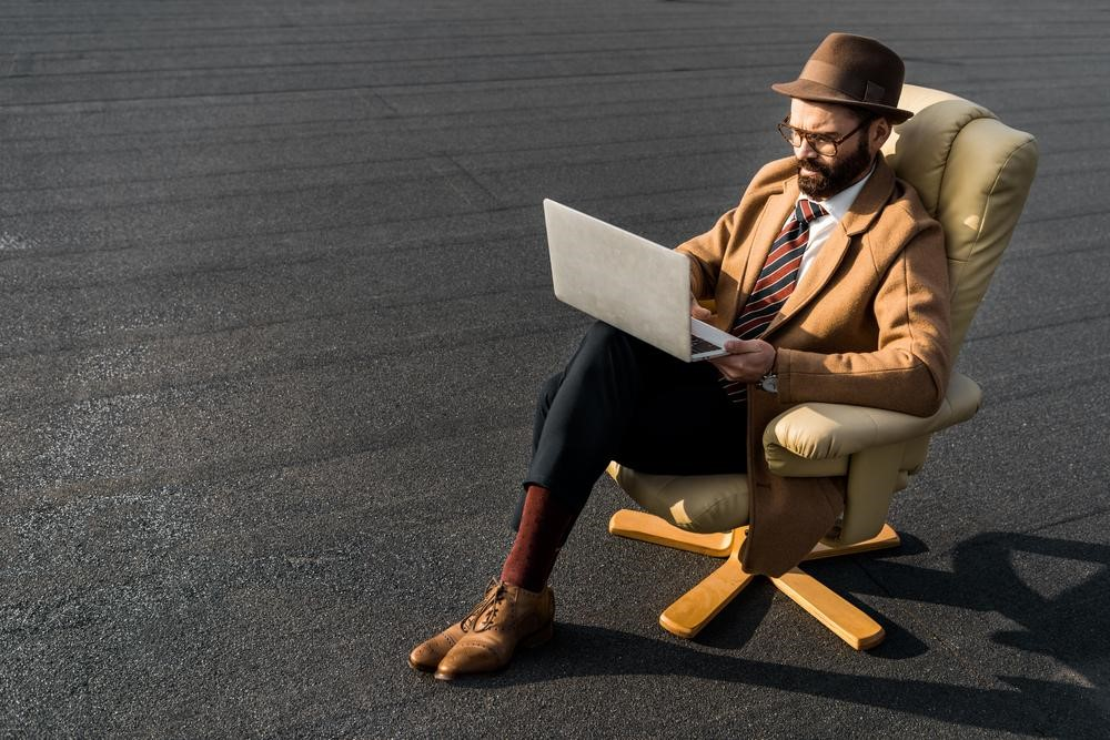 man sitting representing digital transformation