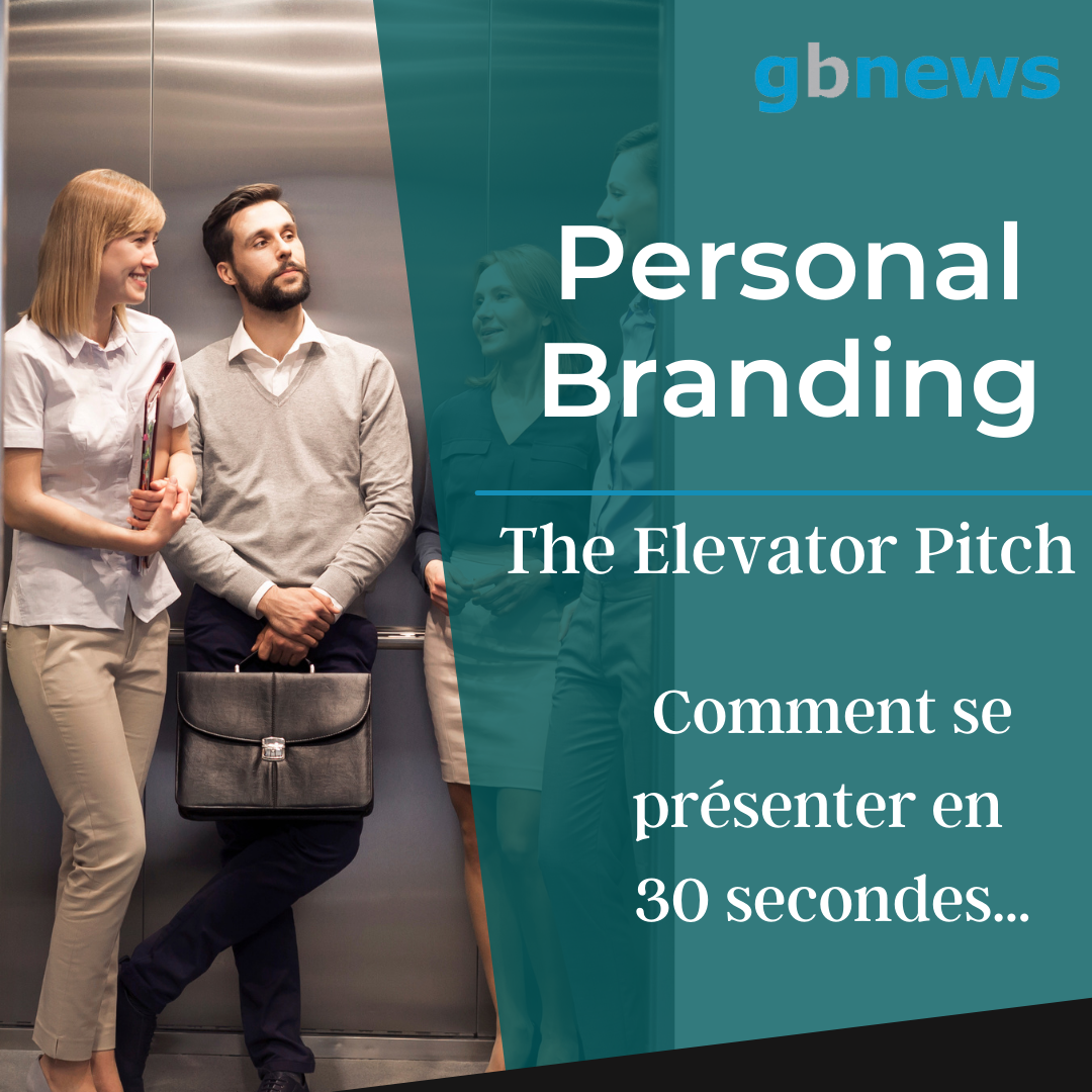 in an elevator illustrating the pitch